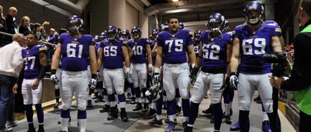 Minnesota Vikings in the Metrodome's tunnel for the last time before it got tore down.