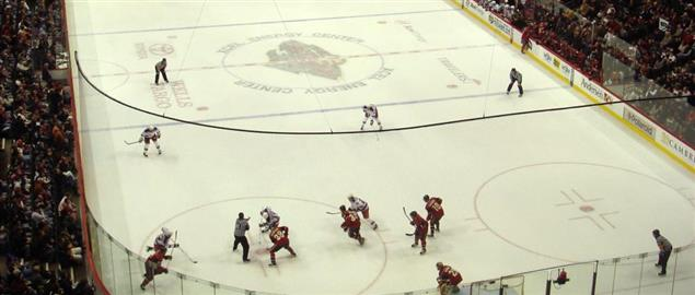 Minnesota Wild's Xcel Energy Center arena during the 07-08 season, vs NY Rangers.