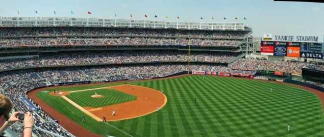 Beautiful View of the Yankees vs Rays game. The Two Teams are Set for 2017 Opening Day.