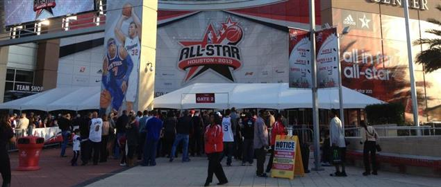 2013 NBA All Star Game LaBranch Entrance Game Night