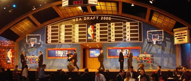 The 2006 draft board and stage, pre-draft.