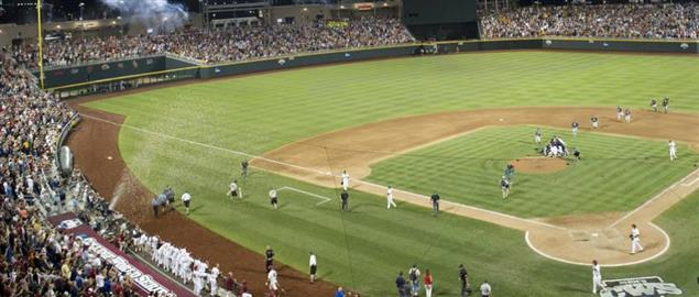 College World Series, game two between Arizona vs. South Carolina, June 25, 2012.