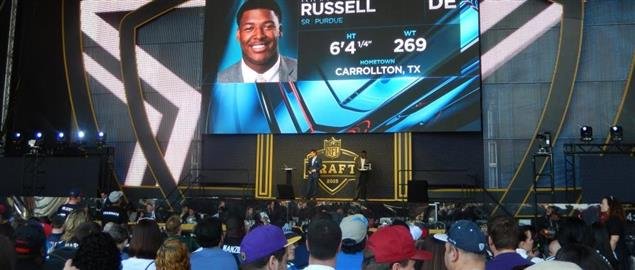 Ryan Russell selection during 2015 NFL Draft in Chicago.