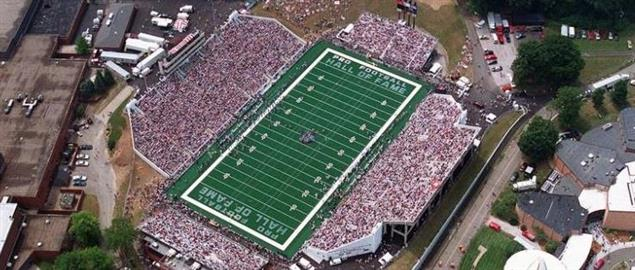 Hall of Fame game aeriel view, from Canton, Ohio. 08/97.