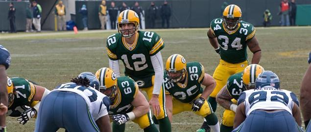 Seattle vs. Green Bay. December 27, 2009 at Lambeau Field in Green Bay, Wisconsin.