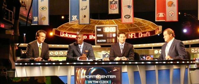 ESPN's broadcast set for the 2009 National Football League Draft.
