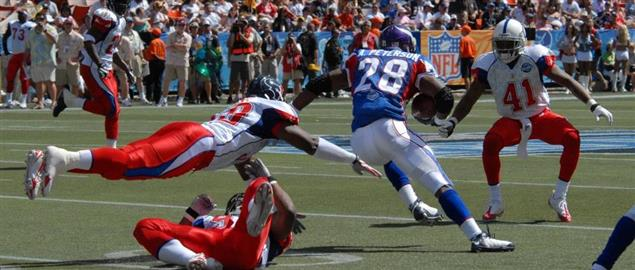 Adrian Peterson running the Ball during the NFL Pro Bowl
