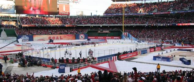 Capitals Troy Brouwer just scoring the game-winning goal at the 2015 NHL Winter Classic.