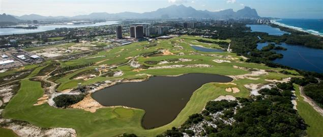 The Rio Olympics golf course aerial view.