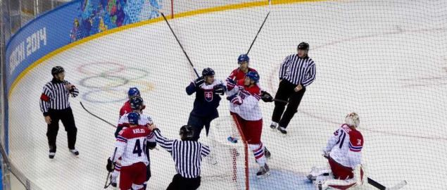 Czech Republic vs Slovakia at the 2014 Winter Olympics.