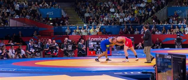 USA v Ukraine 2012 Olympic wrestling.