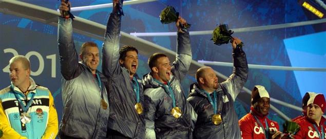 Team USA 2010 four-man bobsled Olympic gold medalists.