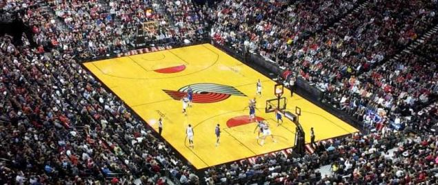 Ariel view of the Portland Trail Blazers