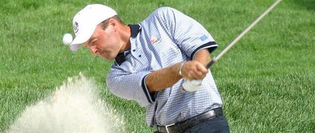 Frenchman Thomas Levet during a practice round prior to the 2004 Ryder Cup.
