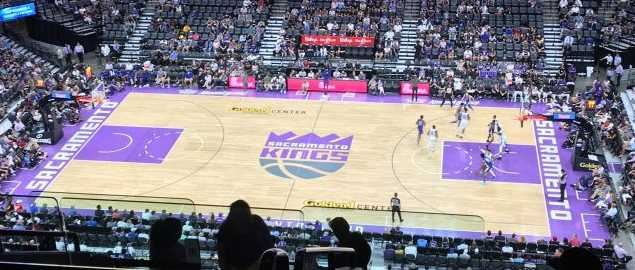 Golden 1 Center during a Sacramento Kings NBA Summer League game (July 3, 2018).