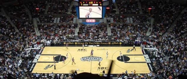 The San Antonio Spurs hosting the Los Angeles Lakers in 2004.