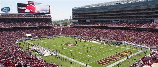 49ers vs Broncos preseason game at Levi's Stadium, Aug 17, 2014