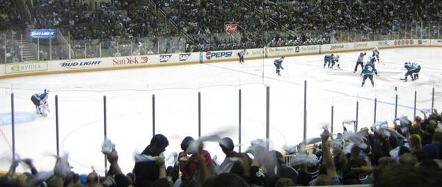 Sharks v. Predators at the NHL Stanley Cup Playoffs 2006, Game 3 at the HP Pavillion.