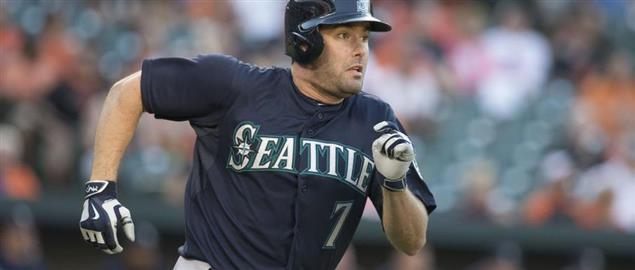 Seattle Mariner's outfielder Seth Smith, 5/19/15.