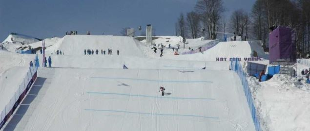 Women's snowboard cross at the 2014 Winter Olympics.
