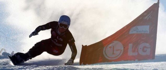 Olympian Michael_Lambert competing in the 2010 FIS World Cup.