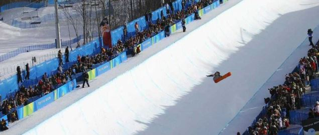 Half-pipe at the 2006 Winter Olympics.
