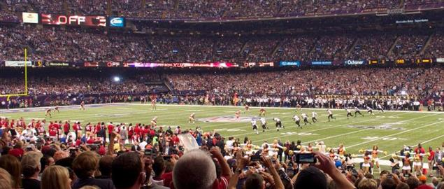 The Kick off For Super Bowl XLVII