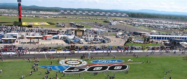 Talladega Superspeedway after the re-paving of the track, 10/8/06.