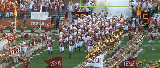 Texas Longhorns football team enters the field on opening day