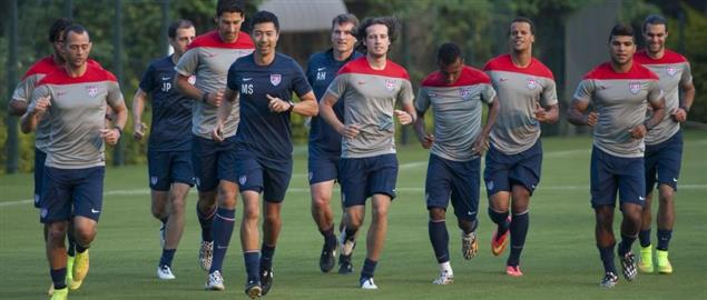 USMNT training in Brazil, 2014.
