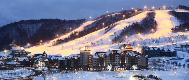 Alpensia Resort, the main center for the 2018 Winter Olympics.
