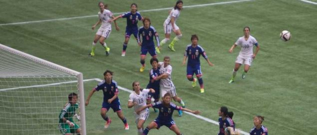 USA vs Japan corner kick goal at the 2015 FIFA World Cup Final